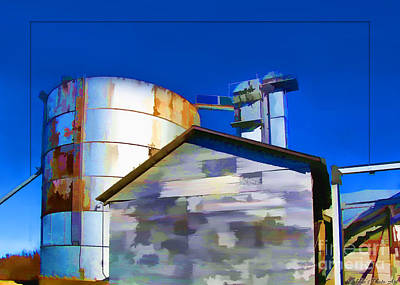 Photograph - Silo And Farm Shed  Digital Paint by Debbie Portwood