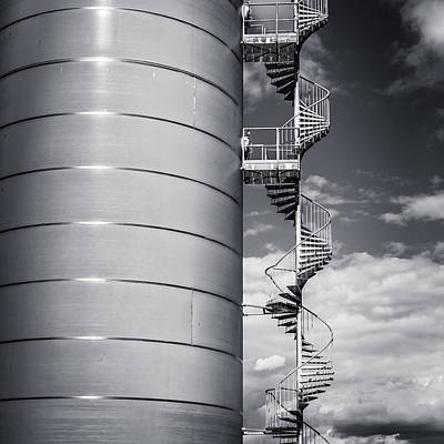 Photograph - Silo And Stairs by Gary Gillette