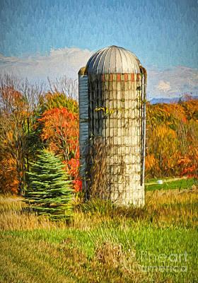 Silo In Vermont Art Print by Deborah Benoit