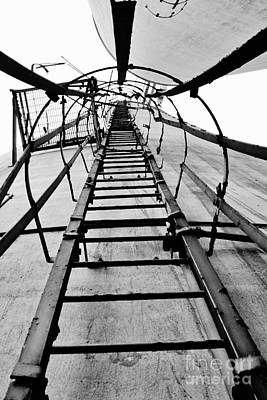 Photograph - Silo Ladder by Lynda Dawson-Youngclaus