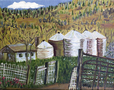 Painting - Silo Quintet by Mary LaFever