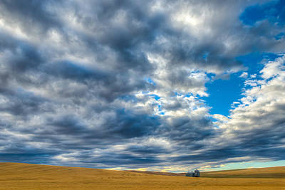 Silo Under Big Palouse Sky Art Print