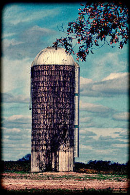 Photograph - Silo -vine Covered - Hdr  by Lesa Fine