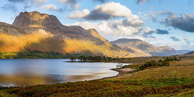 Photograph - Siloch From Loch Maree by Gary Eason