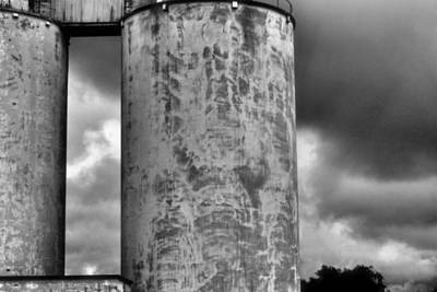 Photograph - Silos In Storm by Nadalyn Larsen