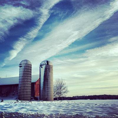 Silos Art Print by Jeff Klingler