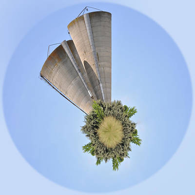 Photograph - Silos Wee Planet by Paulette B Wright