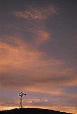 Photograph - Silouette Windmill II by Doug Davidson