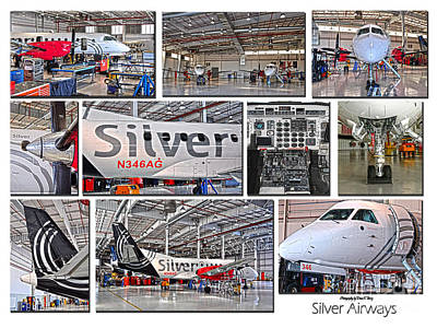 Silver Airways Large Composite Art Print