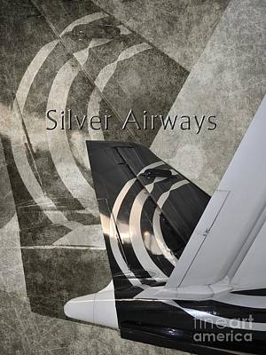 Airways Photograph - Silver Airways Tail Logo by Diane E Berry