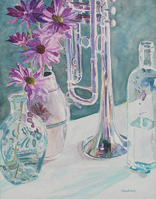 Silver And Glass Music Art Print by Jenny Armitage