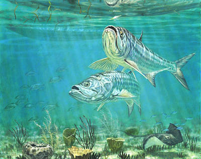 Salt Water Game Fish Painting - Silver And Gold by Don  Ray