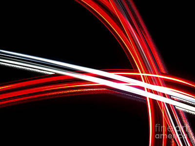 Abstract Movement Photograph - Silver And Red by Brian Mollenkopf