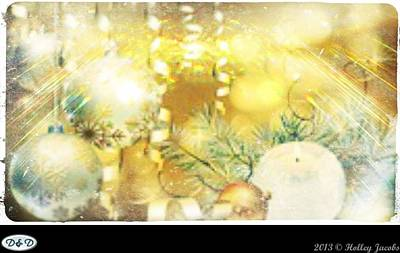 Digital Art - Silver Bells by Holley Jacobs