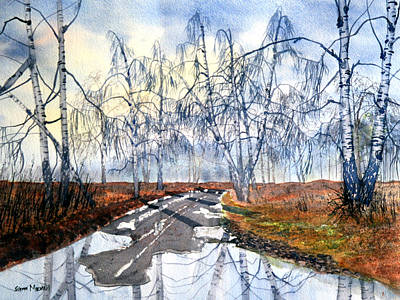 Painting - Silver Birch On Skipwith Common by Glenn Marshall