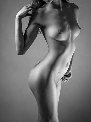 Breasts Photograph - Silver by Blue Muse Fine Art