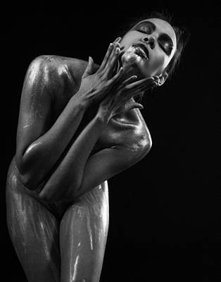 Photograph - Silver Body Painting by James Hammond