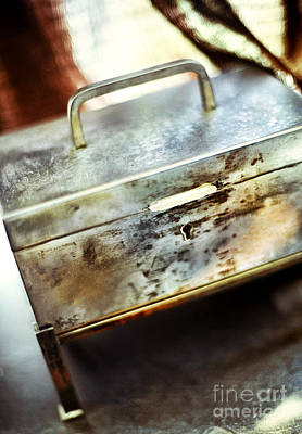 Treasure Box Photograph - Silver Box by HD Connelly