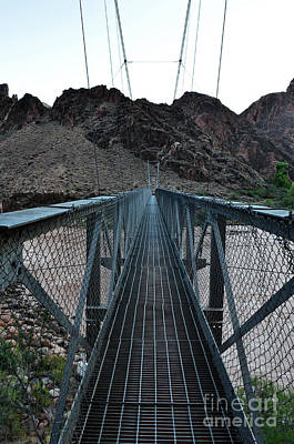 Photograph - Silver Bridge Over Colorado River Bottom Of Grand Canyon National Park by Shawn O'Brien