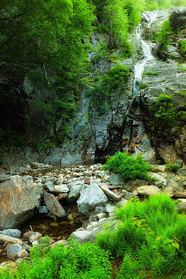 Photograph - Silver Cascade In The Mist by Jeff Sinon