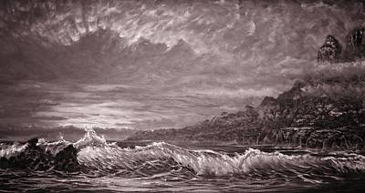 Painting - Silver Channel - Study by Joseph   Ruff