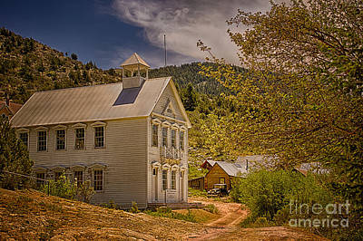Rights Managed Images - Silver City Idaho Schoolhouse Royalty-Free Image by Priscilla Burgers