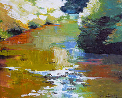 Impressionistic Landscape Painting - Silver Creek No. 4 by Melody Cleary