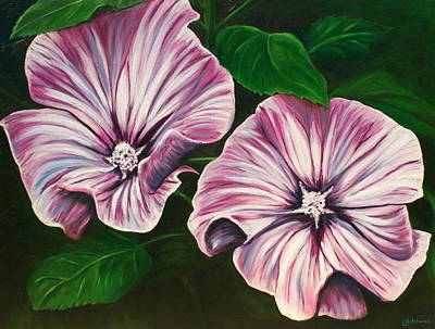 Painting - Silver Cup - Lavatera by Lyndsey Hatchwell