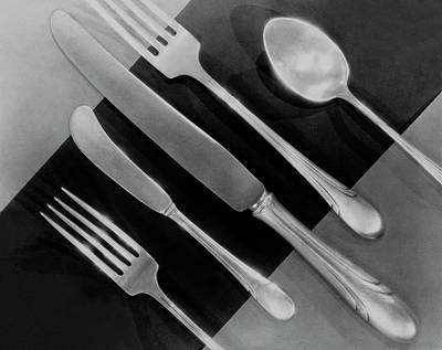 Silver Photograph - Silver Cutlery By Symphony By Towle by Martinus Andersen