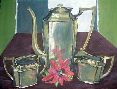 Painting - Silver Dish by Vera Lysenko