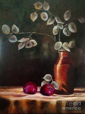Honesty Painting - Silver Dollar Still Life  by Anne Barberi
