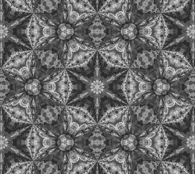 Decorating Mixed Media - Silver Dreams Abstract Design by Georgiana Romanovna