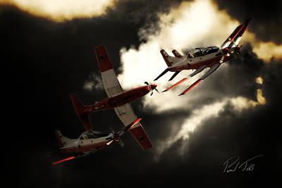 South African Air Force Photograph - Silver Falcons by Paul Job
