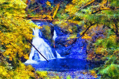Digital Art - Silver Fall Twin Falls by Kaylee Mason