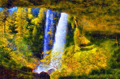 Digital Art - Silver Falls North Falls by Kaylee Mason