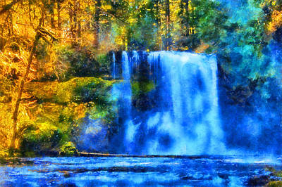 Digital Art - Silver Falls Upper North Falls by Kaylee Mason