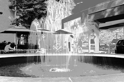 Photograph - Silver Fountain by Anne Barkley