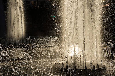 Photograph - Silver Fountains Dancing In The Sun by Georgia Mizuleva