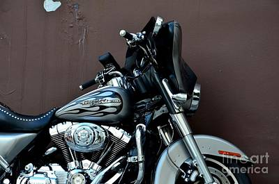 Art Print featuring the photograph Silver Harley Motorcycle by Imran Ahmed