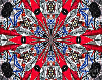 Silver Jet Kaleidoscope Art Print by Diane E Berry
