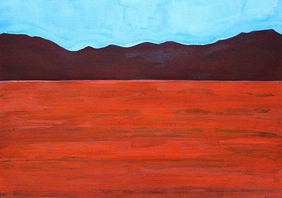 Terra Painting - Silver Lake Evening Original Painting by Sol Luckman