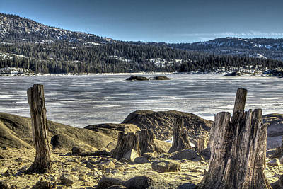 Photograph - Silver Lake In The Sierra Frozen Over by SC Heffner