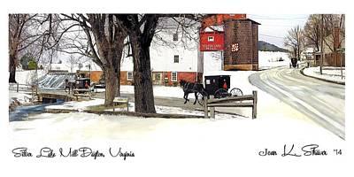 Silver Lake Mill-winter Original by Joan Shaver