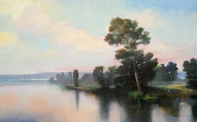 Painting - Silver Light by Keith Gunderson