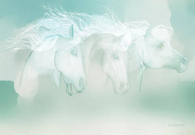Painting - Silver Manes by Valerie Anne Kelly