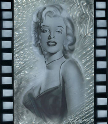 Marylin Painting - Silver Marylin 3 by Luis  Navarro