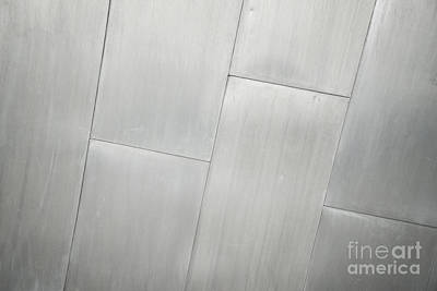Photograph - Silver Metal Background by Jacek Malipan