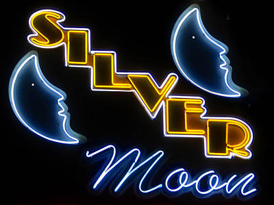 Silver Moon Drive In Photograph - Silver Moons by David Lee Thompson