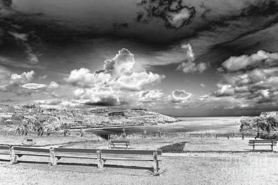 Digital Art - Silver Newquay by Nicholas Burningham