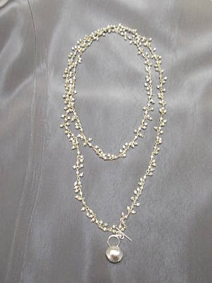 Nugget Necklace Jewelry - Silver Nugget Chain Necklace by Jan Durand